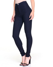 Women - Hi Waisted 1-Button Stretch Skinny Jean