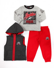 Sets - 3 PC PUFFER VEST & JOGGERS SET (2T-4T)