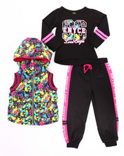 Sets - 3 PC SPLATTER PRINT PUFFER VEST W/ JOGGERS SET (2T-4T)