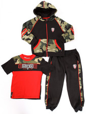 Sets - 3 PC CAMO HOODY & JOGGERS SET (4-7)