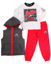 Boys - 3 PC PUFFER VEST & JOGGERS SET (4-7)