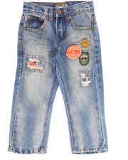 Boys - AZTEC PATCH JEANS (2T-4T)