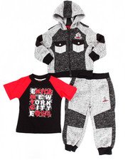 Sets - 3 PC HOODY & JOGGERS SET (2T-4T)