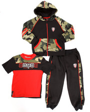Sets - 3 PC CAMO HOODY & JOGGERS SET (2T-4T)