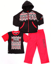 Sets - 3 PC HOODY & JEANS SET (2T-4T)
