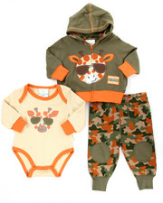 Infant & Newborn - 3 PC SAFARI HOODY SET (NEWBORN)