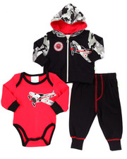Infant & Newborn - 3 PC AIRPLANE HOODY SET (NEWBORN)