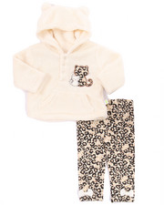 Infant & Newborn - 2 PC KITTY CORAL FLEECE SET (NEWBORN)