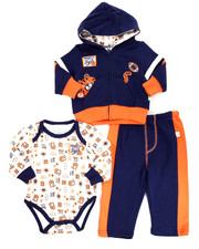Infant & Newborn - 3 PC TOUCHDOWN TIGER HOODY SET (NEWBORN)