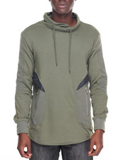 Buyers Picks - Cross-Neck Woven Trim Sweatshirt
