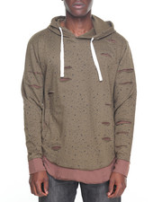 Hoodies - Double Layer Distressed Hoodie