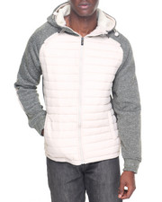 Men - Nylon Quilted Hoodie