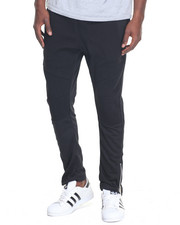 Jeans & Pants - Rib Panel Sweatpants W/Moto Piecing