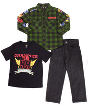 Sets - 3 PC SET - MILITARY WOVEN, TEE, & JEANS (4-7)