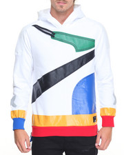 Men - Color - Trim Banded Pullover Hoodie