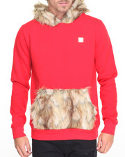 Hudson NYC - Faux Fur - Trimmed Pullover Hoodie