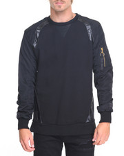 Buyers Picks - M A - 1 - Sleeve Fleece Crewneck Sweatshirt