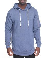 Men - Pullover Hoodie w/ Zip PCKT Sleeve