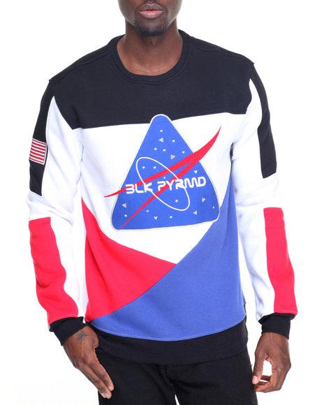 Buy mars attack l s crewneck sweatshirt men 39 s sweatshirts for Black pyramid t shirts for sale