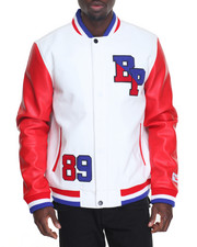 Men - B P Logo Varsity Jacket