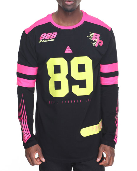 Buy neon rider l s tee men 39 s shirts from black pyramid for Black pyramid t shirts for sale