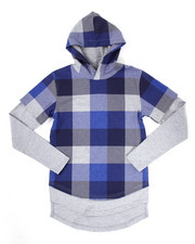 Boys - FRENCH TERRY PLAID HOODY (8-20)
