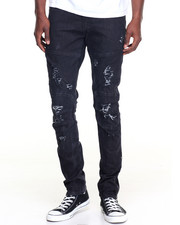 Jeans & Pants - Zipper - Bottom Washed Denim Jeans