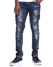 Jeans & Pants - Dirty - Wash Moto - Style Denim Jeans