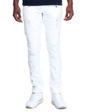 Jeans & Pants - White - Out Moto - Style Denim Jeans