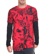 Men - News Print L/S T-Shirt