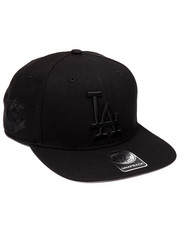 Men - Los Angeles Dodgers Sure Shot Black 47 Captain Snapback Cap