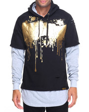 Hoodies - Double Layer Gold Drip Hoodie