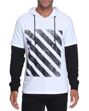 Men - Graphic Stripe L/S Hoodie