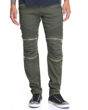 Buyers Picks - Twill Moto Pant - Quilted  Knee
