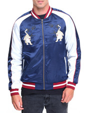 Men - SATIN SOUVENIR JACKET W/ TIGER EMBROIDERY