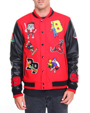 Varsity Jackets - B P Multi - Patch Letterman Jacket