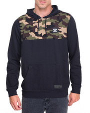 Adidas - ACTION SPORTS CAMO BLOCK PULLOVER HOODIE