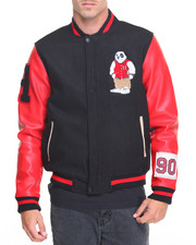 Men - Varsity Panda Wool Jacket