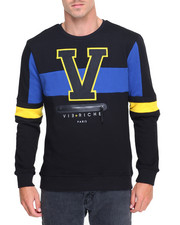 Men - Varsity Center - Zip Crewneck
