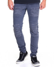 Hudson NYC - A N Distressed Knit Moto Denim Jeans