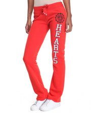 Pants - Hearts Graphic Athleisure Fleece Pants
