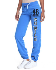 Women - Go Wild Graphic Bling Trim Fleece Jogger
