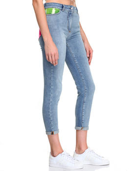 Women - PASTEL POCKET SKINNY JEANS