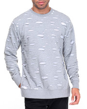 Buyers Picks - Contrast Ripped Crewneck Sweatshirt