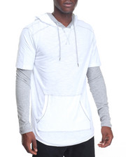Shirts - Hang Down DBL Layer Hoody