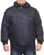 Men - Ballistic Drawstring Nylon - Filled Hooded Jacket (B&T)