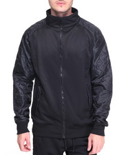 Men - Diamond Quilted Zip Front Track Jacket
