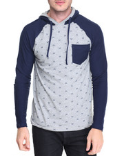 Men - Arrow Print Hoody