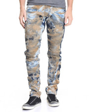Men - Dirty Cloud Wash Moto Denim Jeans