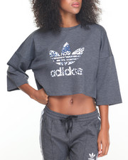 Tees - 3/4 SLEEVE CROP TREFOIL TOP